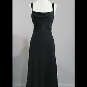 Silk tricotene black gown from J.Crew